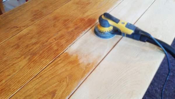 eiken houten tafel behandelen opknappen